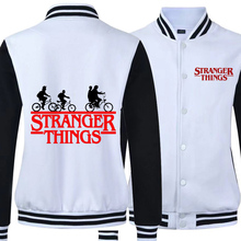 2019 Autumn Keep Warm Stranger Things Hoodies Male Bomber Jacket Baseball  Loose Jackets College Style Coats Uniform
