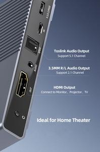 Image 2 - Преобразователь аудио Unnlink HDMI UHD4K @ 30 HIFI 5.1ch SPDIF оптический Toslink RCA UHD4K для Chromecast Fire TV Stick Box Roku