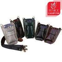 Fenice Fashion Barber Hair Scissor Bag Hairdressing Holster Pouch Holder Case Bag with Waist Shoulder Belt Hair Tool