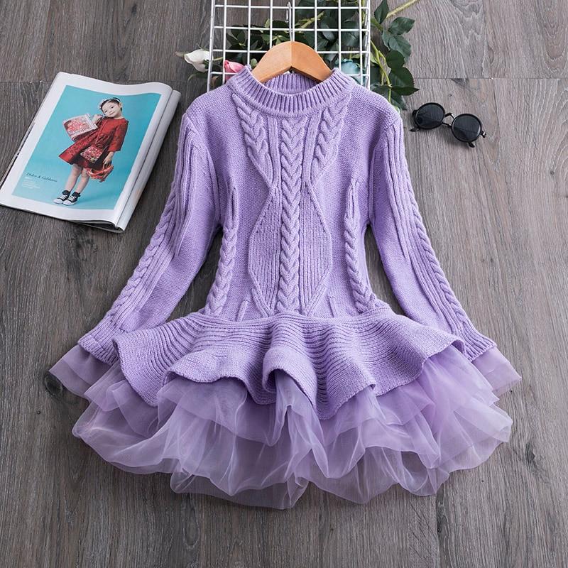 Full Sleeve Girls Dress Birthday Dresses for Kids Children's Clothing Christmas Dress for Girls Vestidos Kids Winter Clothing 5