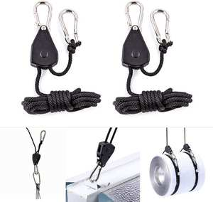 Rope Ratchet Light Hangers Yoyo Hanging-Kit Adjustable Grow 1/8inch for LED Tent-Room