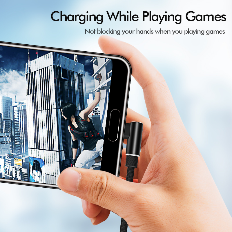 Image 4 - 마이크로 USB 케이블 3A 빠른 충전기 USB 코드 Suntaiho 90도 팔꿈치 나일론 꼰 데이터 케이블 삼성 소니 샤오미 안드로이드 전화휴대폰 유동 케이블   -