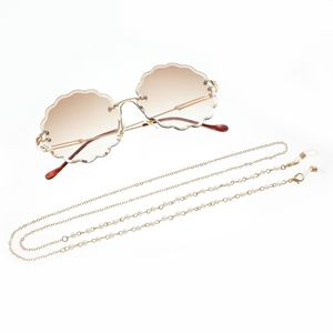 2019 Chic Fashion Reading Glasses Chain for Women Metal Sunglasses Cords Casual Pearl Beaded Eyeglass chain for glasses women