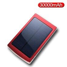 Power Bank 30000mAh Solar Panel Large Capacity Portable Mobi
