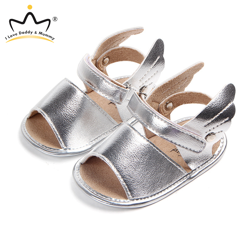 Summer New Cute Angle Wings Baby Sandals For Boy Girl Soft Pu Leather Toddler Shoes Sandals First Walkers Infant Boys Girls