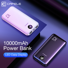 CAFELE 10000mah Power Bank LED Display Powerbank External Battery Dual USB Portable Charger Charging PoverBank for Huawei Xiaomi
