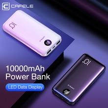 Cafele 10000mah power bank display led powerbank bateria externa dupla usb carregador portátil de carregamento poverbank para huawei xiaomi