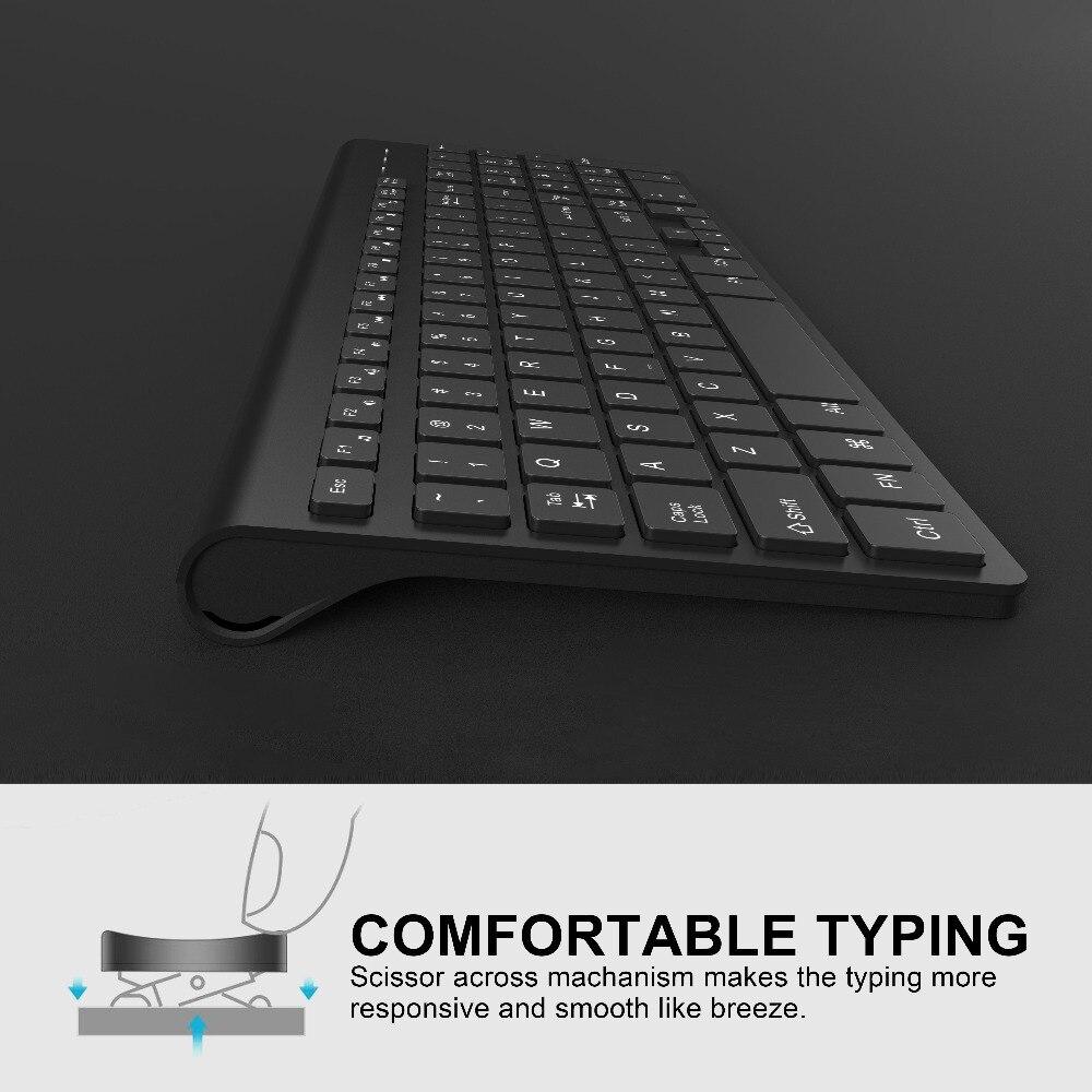 fino teclado mouse conjunto de combinação para