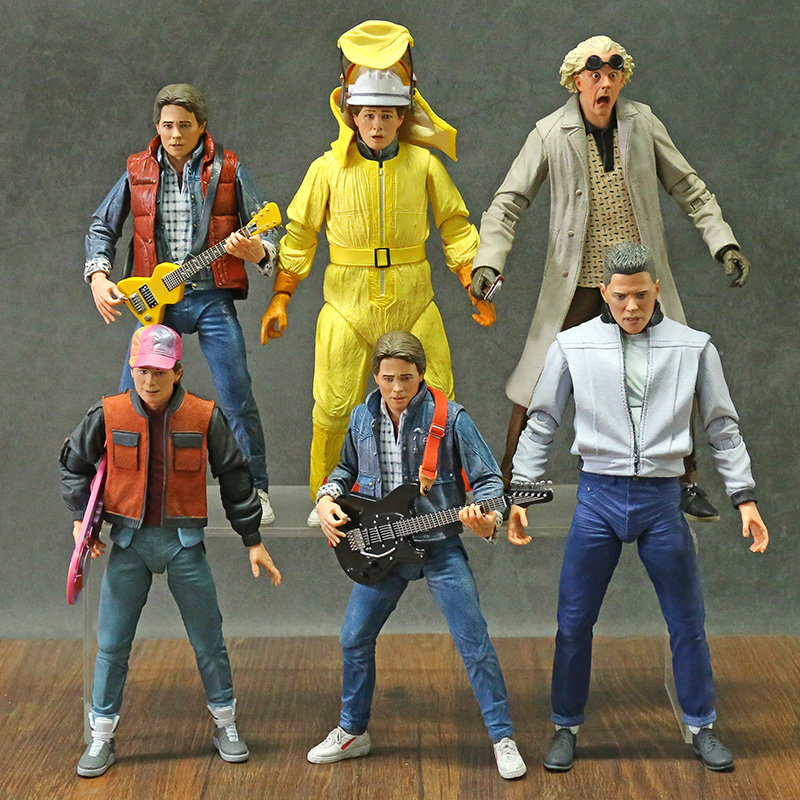 NECA Back to the Future Marty McFly Dr Brown Biff Tannen Action Figure Toy 6 Types