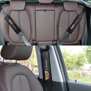 Image 5 - 22.5*6,2 CM 2PCS Mode Carbon Faser Auto Sitz Gürtel Abdeckung Schulter Pad Für Cadillac ATS CTS XTS CT4 CT5 CT6 XT4 XT5 XT6 Escalade