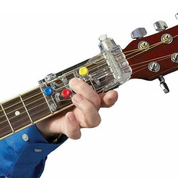 Gitara klasyczna Chordbuddy Luckysoul nauczanie gitara szyi gitara nauka System pomoc dydaktyczna dla akcesoriów do nauki gitary tanie i dobre opinie Guitar Learning System Tuner Guitar Teaching Aid Guitar Learning System Guitar Accessories Classical Chord Learning Aid