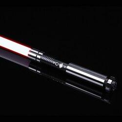 TXQsaber 2020 RGB светильник saber 1 дюйм 82 см дуэльное лезвие сила FX светильник saber со звуком и светодиодный светильник, металлическая ручка FOC Toy