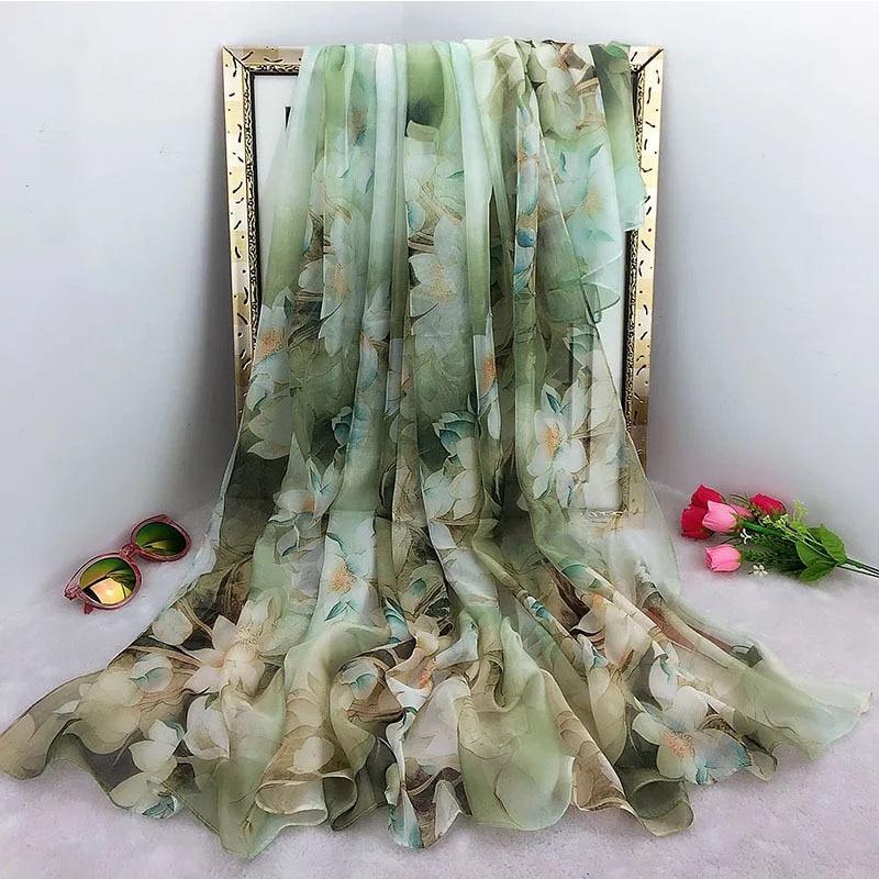 2019 Oversize Summer Women Silk Pareo Foulard Scarves Scarf Ladies Beach Shawl Bandanna Large Hijab Foulard Muffle Free Shipping