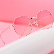 Gafas de Metal polígono Retro Unisex Vintage Retro gafas ópticas Anti azul claro transparente monturas