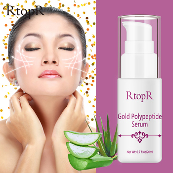 RtopR Gold Peptide Face Serum Hyaluronic Acid Anti-aging Whitening Moisturizing Facial Essence Anti-wrinkle Facial Skin Care peptide beauty face spray makeup water facial toner anti aging anti wrinkle moisturizing whitening skin care cosmetics