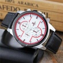 цена ZHONGV Style Watches New Casual Sport Quartz Clock Male Army Military Leather Wristwatch Men's Colorful Fashion Man Design Watch онлайн в 2017 году