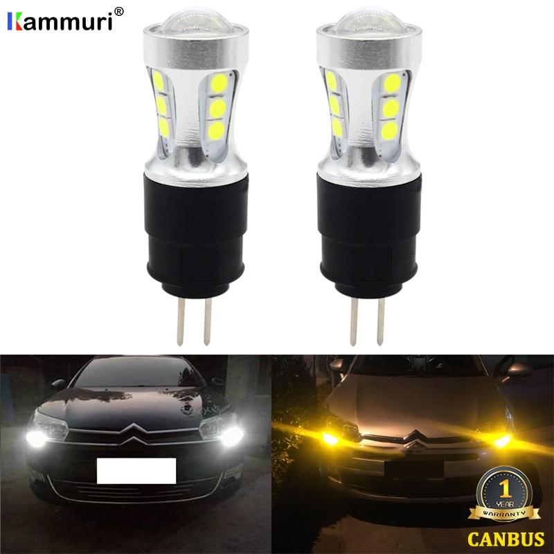 White 6000k No Error Hp24w G4 Car 12v Led Bulb For Citroen C5 Peugeot 3008 2010 2011 2012 2013 Led Drl Daytime Running Day Light