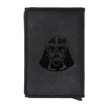 цены Classic Emblem of Star Wars Design Rfid Wallet Vintage Men Women Credit Card Black Leather Wallets Short Purse