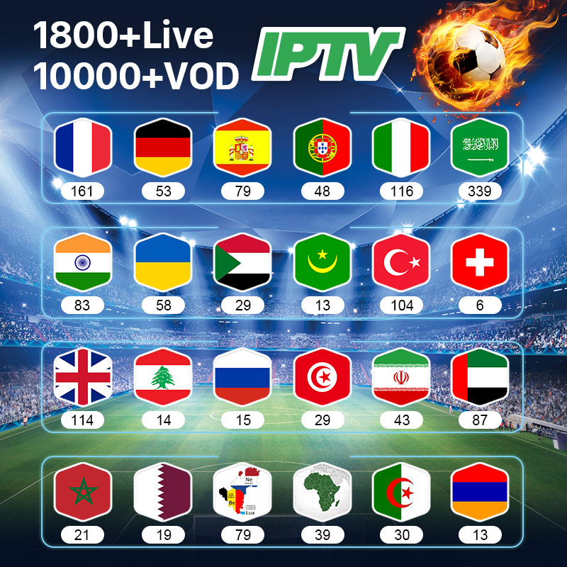 IPTV France Germany Arabic Belgium Spain IPTV Subscription M3U IPTV Netherlands Italy Africa Qatar Algeria UAE French IP TV Code