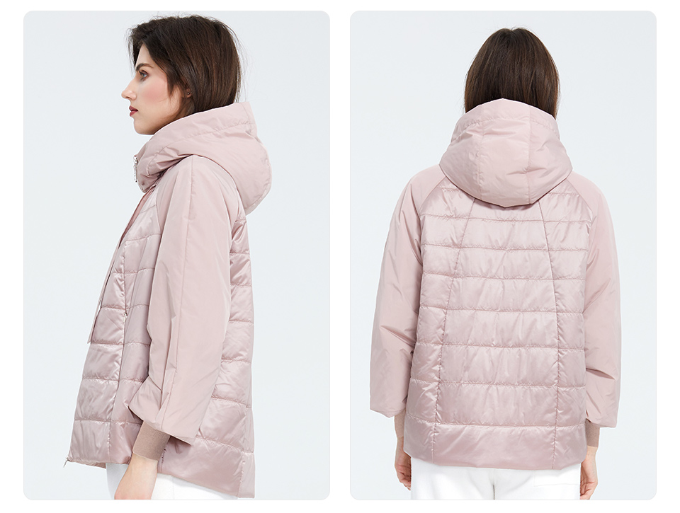 pink jacket side and back views