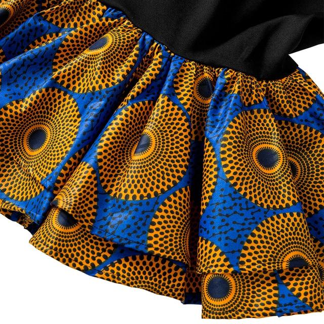 Африканские платья для женщин платье с длинными рукавами принтом