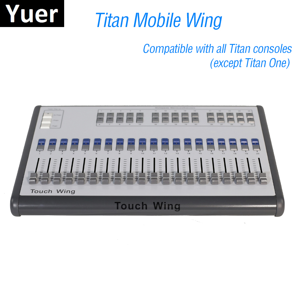 1 Units Mobile Wing DMX Console Professional Stage Lighting Controller Supports All Titan Console Tiger Touch Quartz Consoles