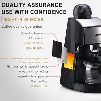 240ml Semi-Automatic Espresso Electric Coffee Machine Express Electric Foam Coffee Maker Kitchen Appliances 220V Sonifer 4
