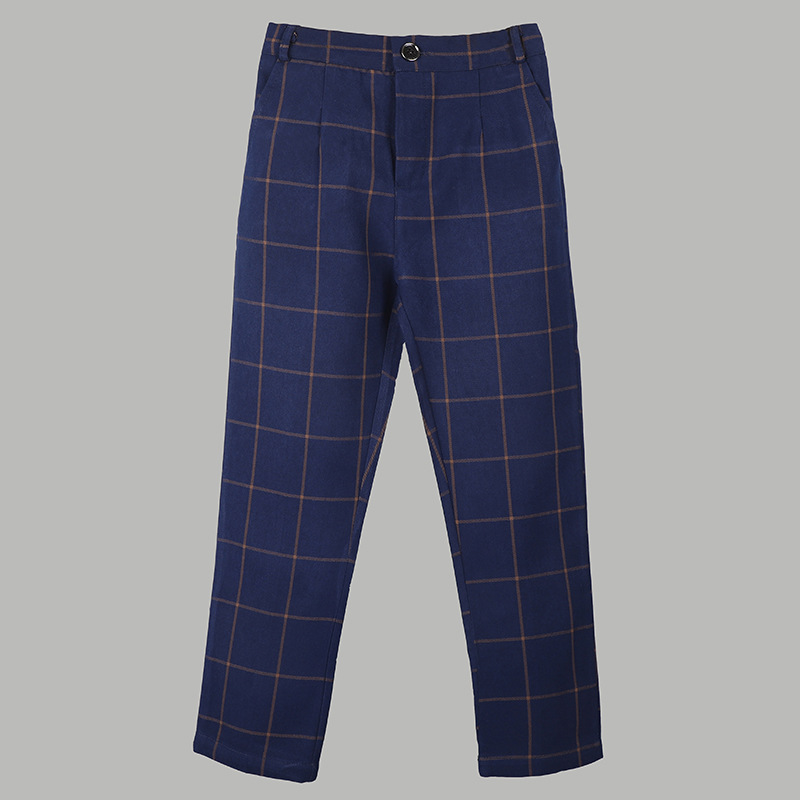 Boys Formal Trousers Children School  Kids Birthday Wedding Pants Big Boys Formal Classic Fashion Pants Costume 2-16T 2