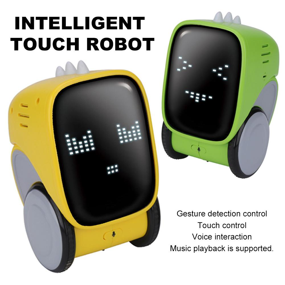 JJRC R16 Smart Robot Touch IR Gesture Control Voice Interaction Dance Music Toy Expression Change Intelligent Robots Boy Gift