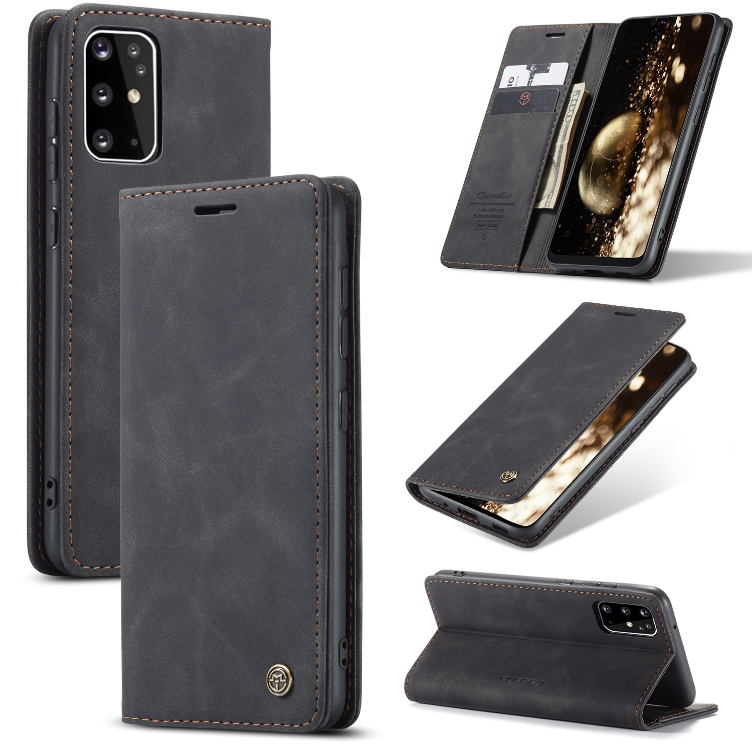 Elegant girl Wallet Case for Samsung Galaxy S20 PU Leather Flip Cover Compatible with Samsung Galaxy S20