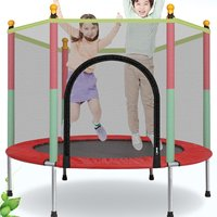 Home Indoor Adult Children Trampoline with Protection Net Jumping Bed Outdoor Trampolines Exercise Bed Fitness Equipment 140cm