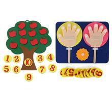 Монтессори математические игрушки обучающие средства инструмент деревья интеллект детский сад Diy ткань Развивающие Игрушки для раннего обучения
