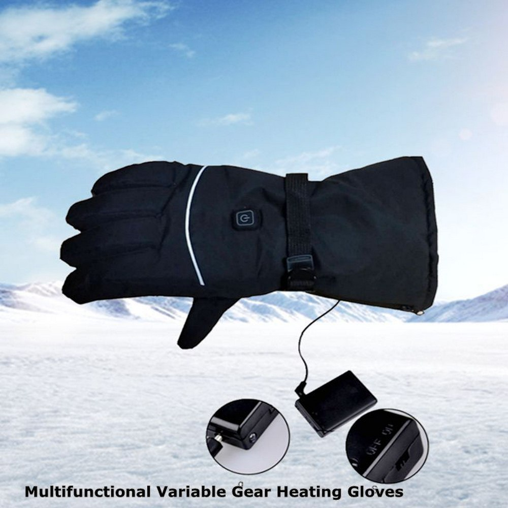 Three-stage Heating Motorcycle Outdoor Electric Heating Gloves Riding Sports Winter Waterproof Hiking Adjustable Temperature
