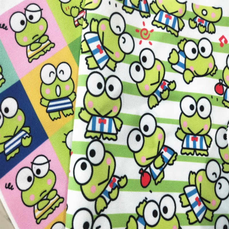 Тонкая холщовая ткань ZENGIA 50x145 см с изображением героев мультфильмов керпопи лягушки для лоскутных мальчиков рюкзаков наволочка занавеска ...
