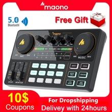 MAONO AM200 Professionelle 12 Arten Von Elektronischen Sound Music Mixer Audio Professionelle Digitale Audio Mixer Für PC Karaoke, Youtube