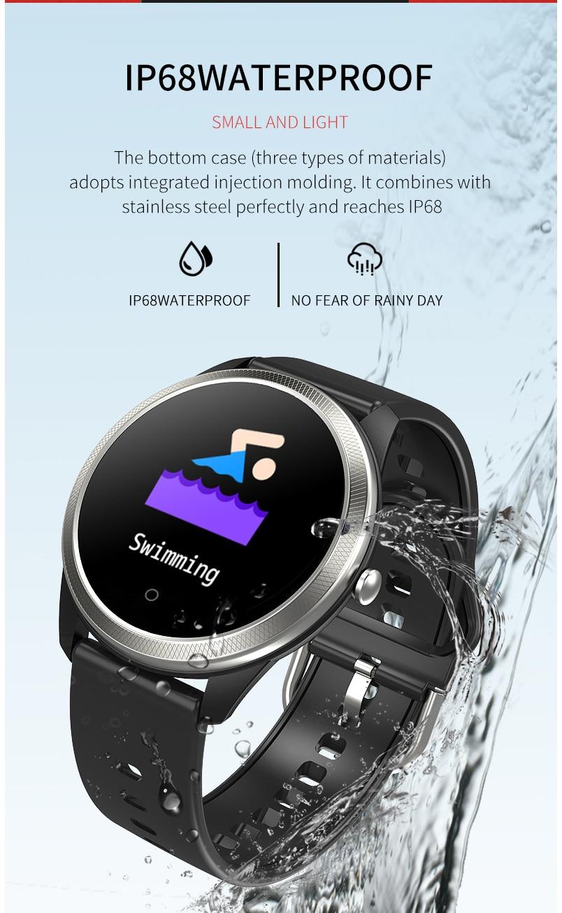Smart watch sports IP68 waterproof F11 ECG + PPG