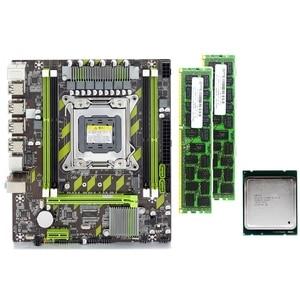 X79 X79G комплект материнской платы с LGA2011 Combos Xeon E5 2620 CPU 2 шт. x 4 ГБ = 8 Гб памяти DDR3 RAM 133hz PC3 10600R
