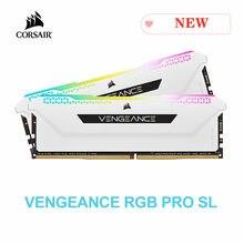 Corsair Vengeance RGB Pro SL 2x8GB 2x16GB DDR4 3200MHz C16 3600MHz C18 1.35V Desktop Memory - White