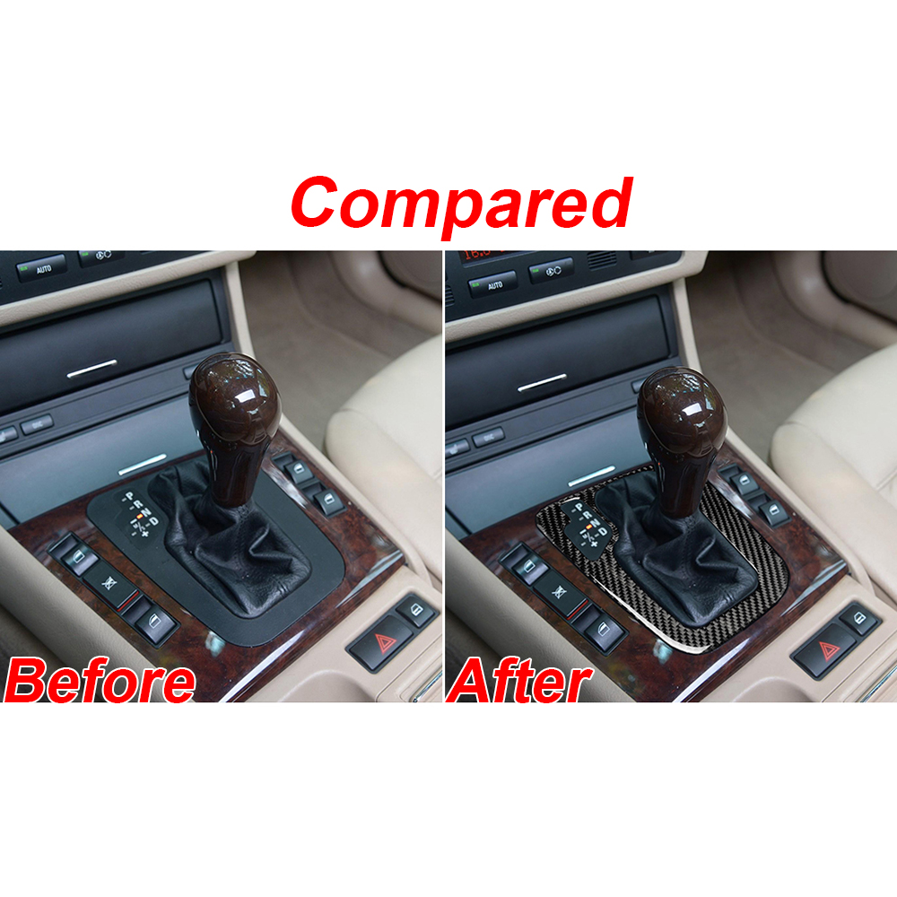 Parts Shift Knob Trim Wear-resistant For BMW 3 Series E46 1998-2005 Car Auto Interior Carbon Fiber