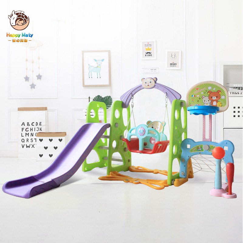 Children Indoor Slide Baby Multifunctional Slide Swing Combination With Water Flooding Board Kindergarten Playground Toys HM098(China)