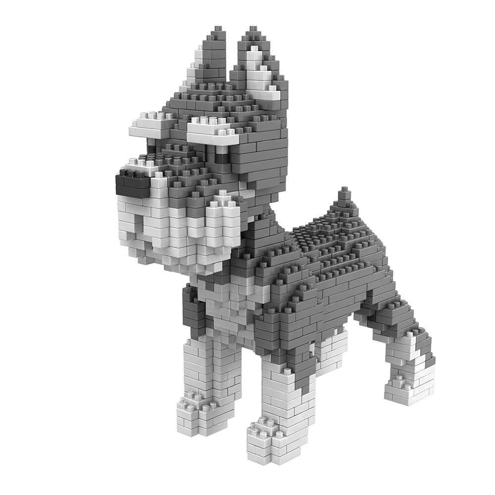 NUOVO Cane Building Blocks Mini Particelle di Blocchi di Diamante Mattoni Husky Keji Teddy Compatibile GIOCATTOLO Creativo FAI DA TE Per Bambini Giocattoli Blocco