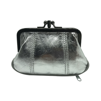 Women's Exclusive Genuine Leather Coin Purse Bags and Wallets Hot Promotions New Arrivals Women's Wallets Color: 023Silver