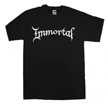 IMMORTAL New Logo Black T-shirt S-XXL Metal Band T Shirt Darkthrone Mayhem Slim Short Sleeve Men Top Tees sbz4404