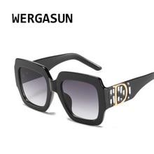 WERGASUN Square Sunglasses Women Brand Designer Retro Mirror Fashion Sun Glasses Vintage Shades Lunette De Soleil Femme
