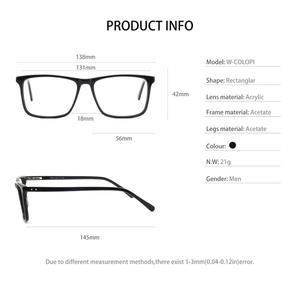 Image 5 - OCCI CHIARI Glasses Frame For Men Optical Computer Eyeglasses Clear Lens Prescription Anti blue light Gaming Eyewear  W COLOPI