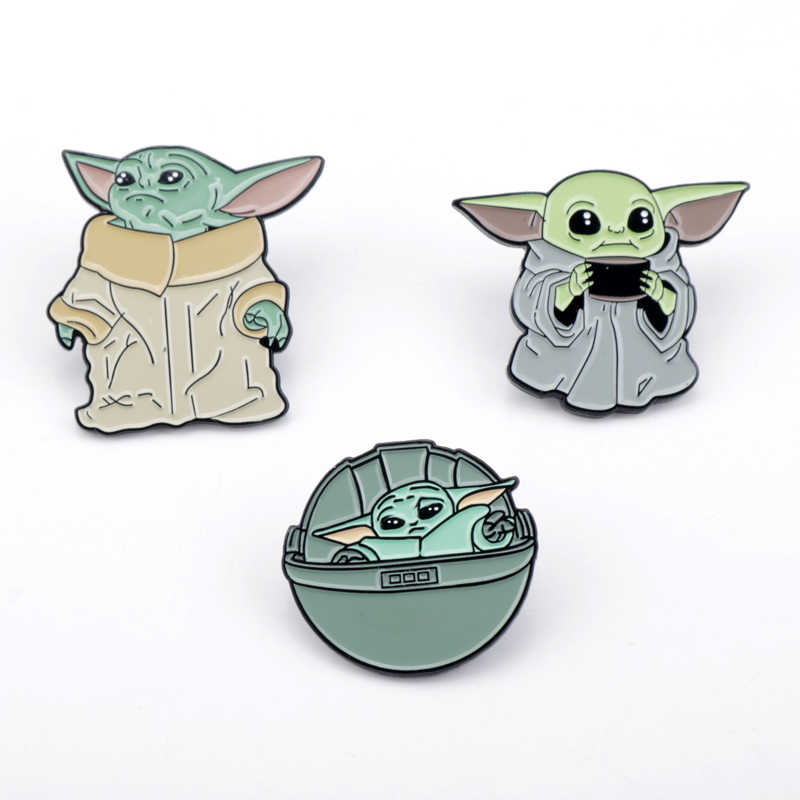 Star Wars Spilla Spille Maestro Yoda Stormtrooper Darth Vader Spille Spille s Distintivi E Simboli Degli Uomini del Risvolto Spille Film Creativo del Regalo Dei Monili
