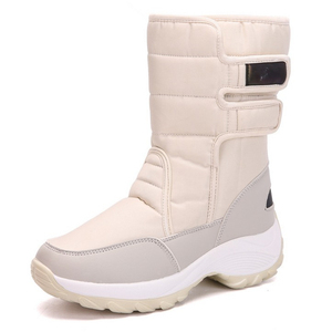 Image 3 - JIANBUDAN 2021 New winter warm Snow Boots Outdoor waterproof womens Cotton boots Plush comfort warm Female high top boots