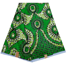 New Fashion Green African Print Fabric pagne wax African Wax Fabric