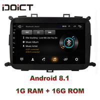 IDOICT Android 8.1 Car DVD Player GPS Navigation Multimedia For KIA Carens 2013 2018 radio car stereo bluetooth wifi