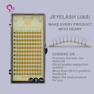 Image 2 - J&S 5pcs/lot New style 5D premade fans hand made fans eyelashes new arrival Eyelash extension 5D eyelashes makeup free shipping